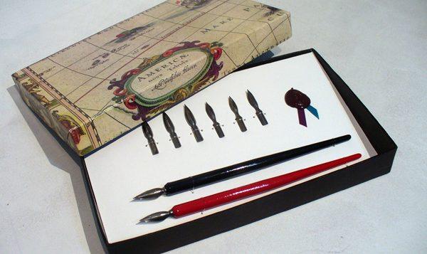 plumas cursiva caligrafia