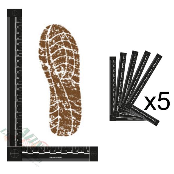 testigo metrico bidimensional negro pie