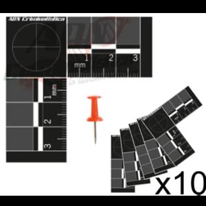 patrones métricos bidimensionales negros